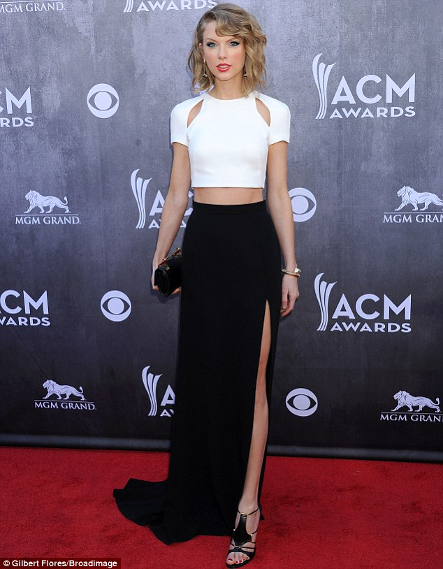 The epitome of sophistication: Taylor Swift wowed on the ACM Awards red carpet in a this grown up ensemble on Sunday, a marked departure from her typical girlie look