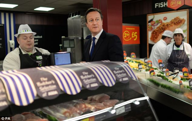 Prime Minister David Cameron, visiting an Asda store in Clapham today, defended Maria Miller