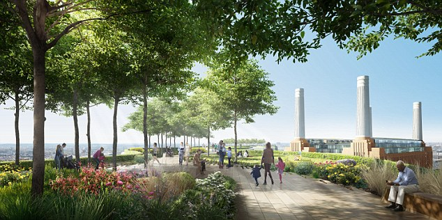 The new street would connect the Northern Line Extension station with the power station on the redeveloped 42-acre site in south London