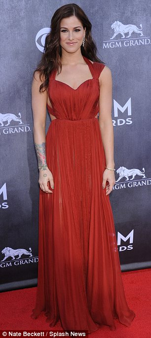Flawless: Up and comers Cassadee Pope and Danielle Bradbury won plaudits for their fashionable attire on the red carpet