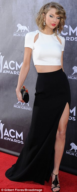 What a departure: Taylor Swift ditched her good girl image for a sexier look at the awards