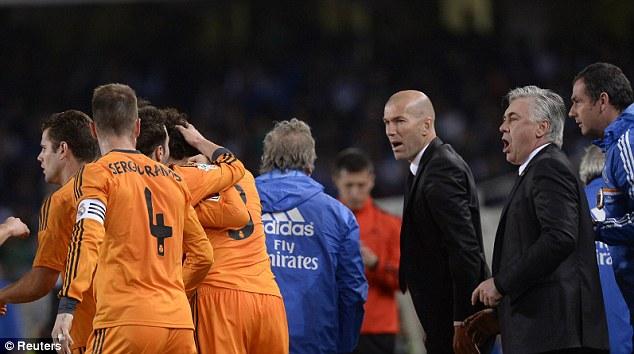 Dream team: Zidane is currently Sporting Director at the Bernabeu under Carlo Ancelotti