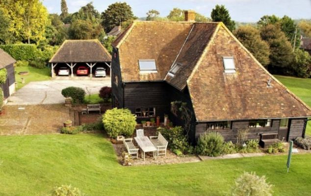 Dream home: This is Maria Miller's new £1.2million converted Tudor barn in Hampshire, bought after selling her family home in Wimbledon for £1.4million
