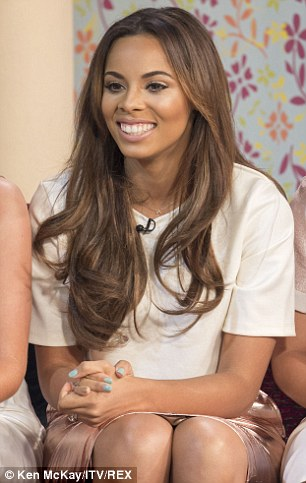 Glowing: Meanwhile Rochelle opted for a pale T-Shirt and pink skirt