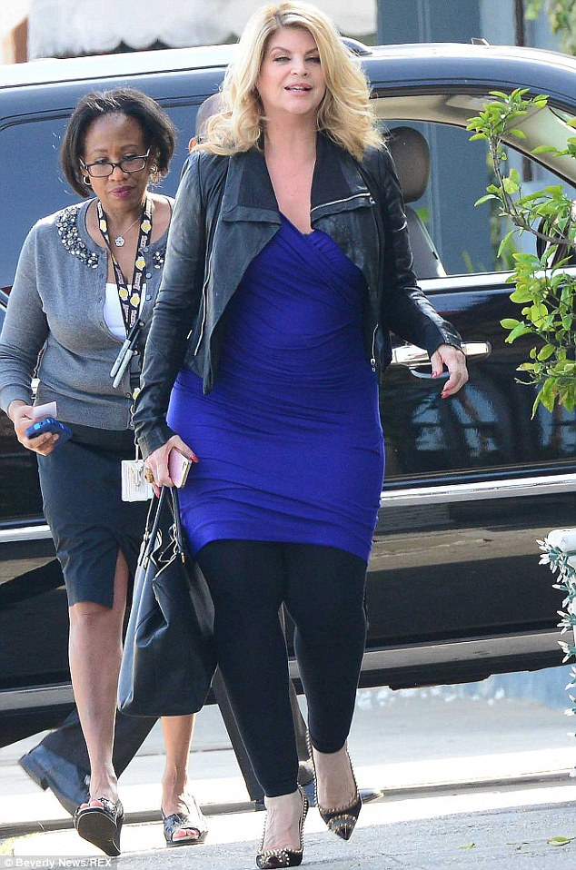 Time to shape up: Kirstie Alley has signed up to Jenny Craig weight loss system after gaining 30lbs