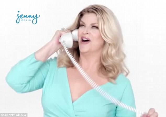 Not bad: Though Alley said she wants to lose a lot of weight, she looked pretty good in her adverts already