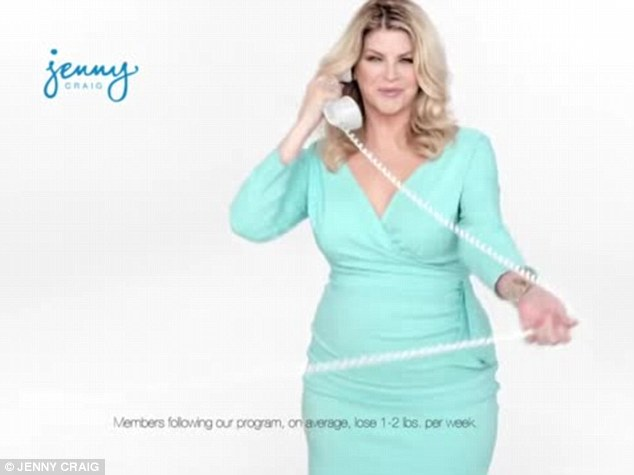 Back to basics: Kirstie's new Jenny Craig TV ad aired on Monday after an earlier announcement that she was rejoining the weight loss company she had represented from 2004 to 2007