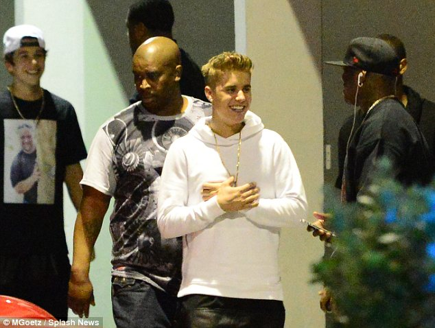 'It bums him out': Rob believes Justin, seen here on Monday, knows that most of his fans don't care about the music