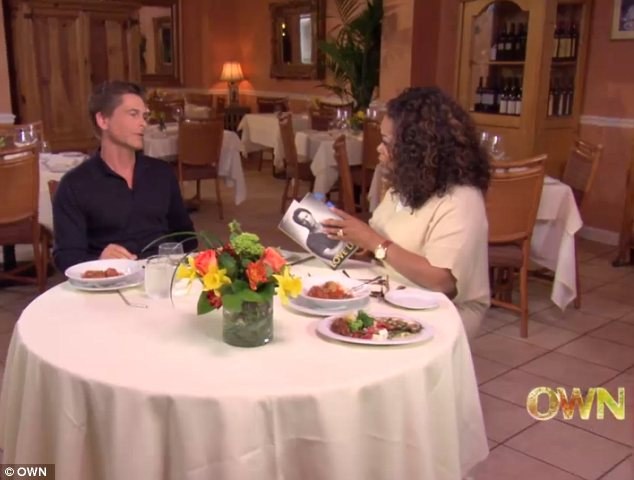 New venture: The Parks And Recreation actor was promoting his second memoir Love Life on Oprah Prime