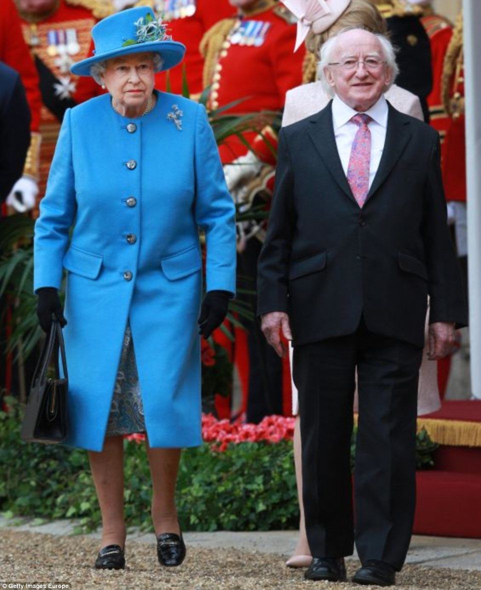 Historic: Irish President Michael D Higgins arrived in Britain for his country's first ever visit by a head of state