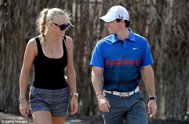 Good things: Among positive changes for McIlroy this year is his engagement to tennis star Caroline Wozniacki