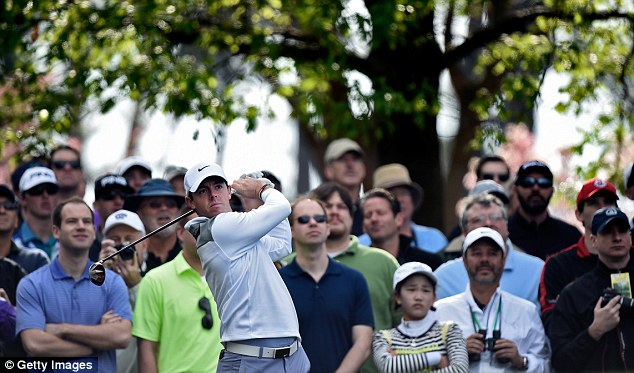 Slam dunk: Northern Ireland's McIlroy is striving to win the third leg of a career grand slam at Augusta