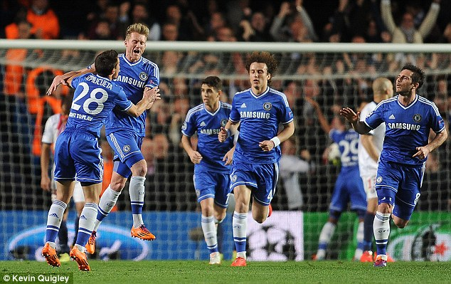 Rudimentary: Substitute Andre Schurrle fired Chelsea into the lead after the half-hour mark