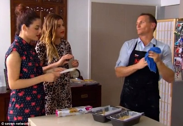 Last minute change: Helena and Vikki changed their minds about which dessert they wanted at the last minute and ran into the kitchen to ask if they could swap