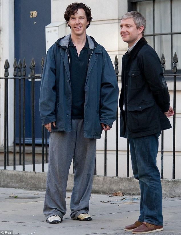 Costars: BBC2 confirmed the reports via their Twitter page, with the post: ' 'Benedict's (pictured in Sherlock with Freeman) range make him the perfect choice to bring one of Shakespeare¿s towering characters to television'