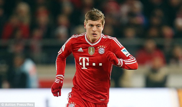 In action: But is Toni Kroos set to wear the red of Manchester United next season?