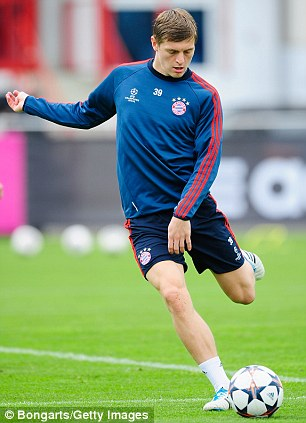 On the move? Toni Kroos is wanted by Man United
