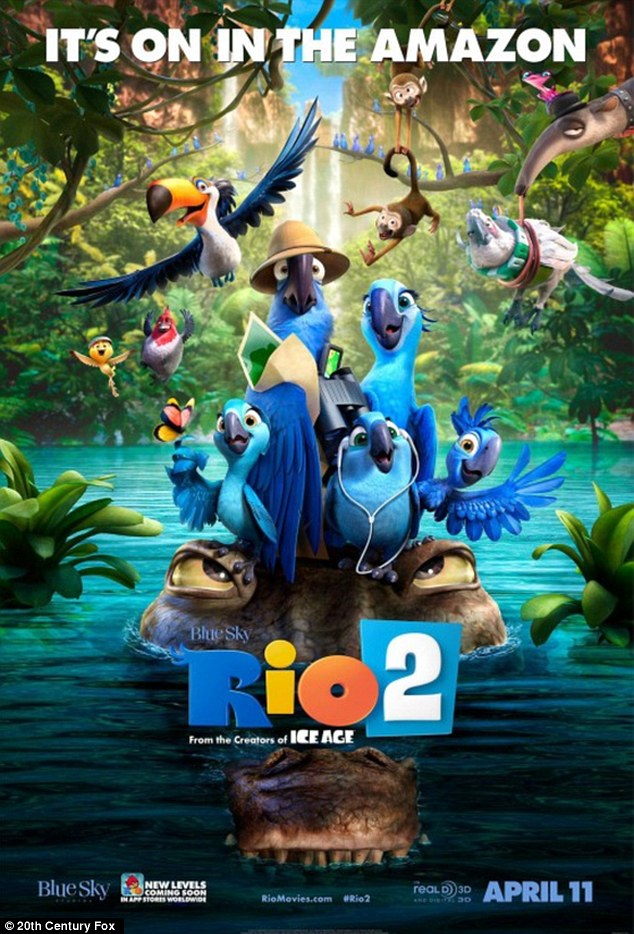 'Maybe you'll like it better': The star voices the role of Jewel in the sequel Rio 2 that hits US theatres on Friday