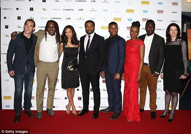 All together now: (L-R) Joseph Mawle, director Biyi Bandele, Thandie Newton, Chiwetel Ejiofor, John Boyega, Babou Ceesay and producer Andrea Calderwood