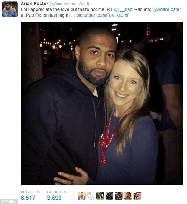 It wasn't me! Foster was quick to let Bazard know he wasn't actually the man photographed