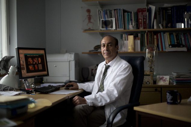 Professor Alexander Seifalian in his office at his research facility in the Royal Free Hospital in north London