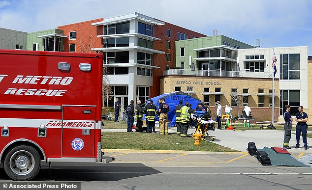 Evacuation: Fire crews help decontaminate students and staff at Jefferson County Open School