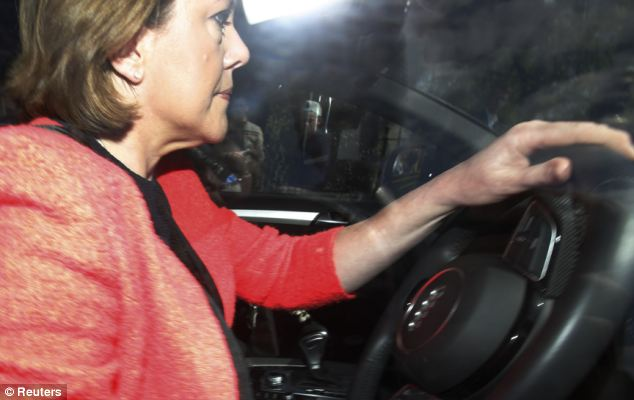 Mrs Miller was today seen driving away from Parliament hours after resigning from the Cabinet