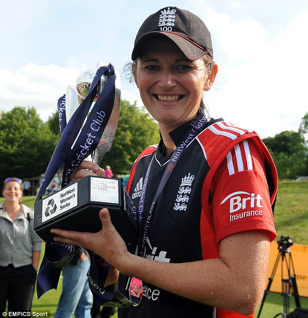 Winning smile: Charlotte Edwards has been included in Wisden's Five Cricketers of the Year annual award list
