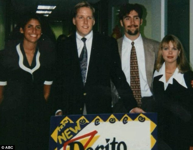From left to right, Andrea Watt, Mark Rader, Roy Brown and a fourth student were part of a group of summer interns who claim that they invented the Taco Bell snack using a Doritos shell back in 1995