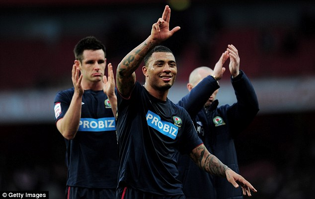 Short spell: Kazim-Richards played for Blackburn between August 2012 and April 2013