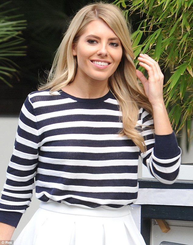 Nautical, but nice: Mollie looked fab in Breton stripes with her blonde hair down