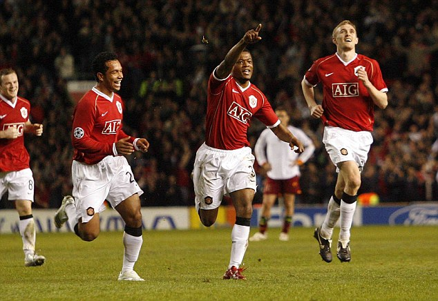 Remember this? Evra's last Champions League goal was against Roma in the 7-1 win back in 2007