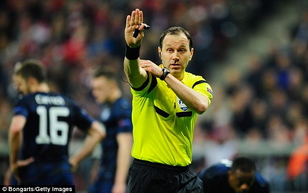 In the spotlight: Swede Jonas Eriksson, who was blasted by Manuel Pellegrini, took charge of the match