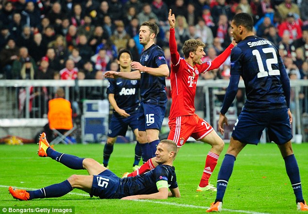 Turnaround: Thomas Muller scored Bayern's second goal of the night as the match was turned on its head