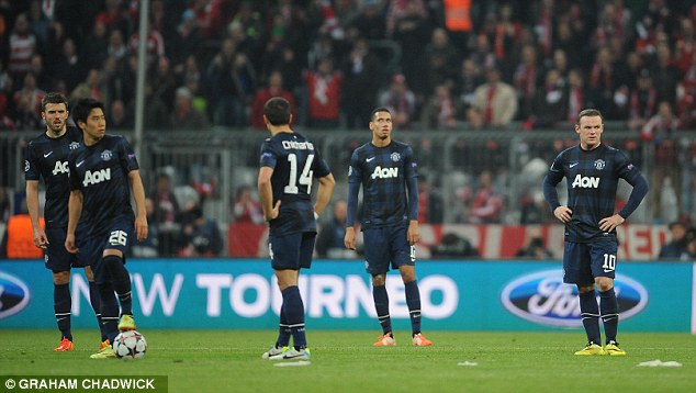 Out of ideas: By the end United were outclassed by the German giants in Bavaria