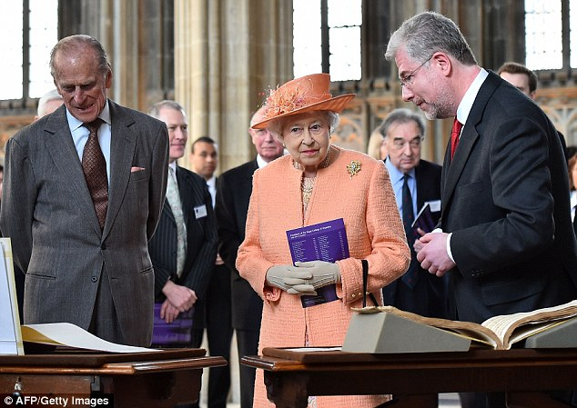 Music to their ears: The Queen and the Duke said they enjoyed the performance