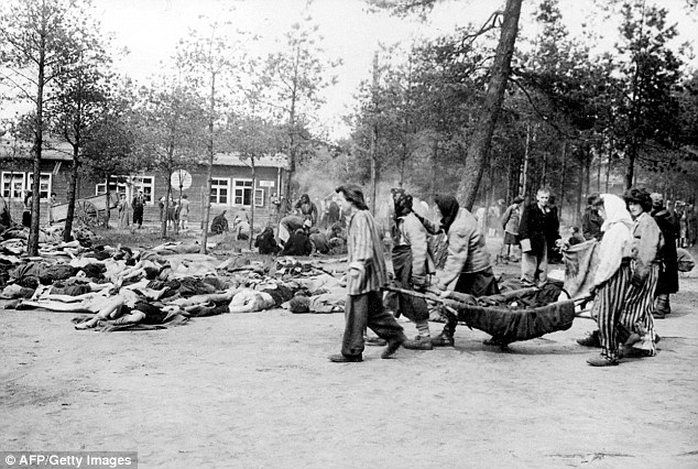 Conditions: Inmates of the camp near Hannover had to carry the emaciated bodies of others while hundreds lay on the floor, dead