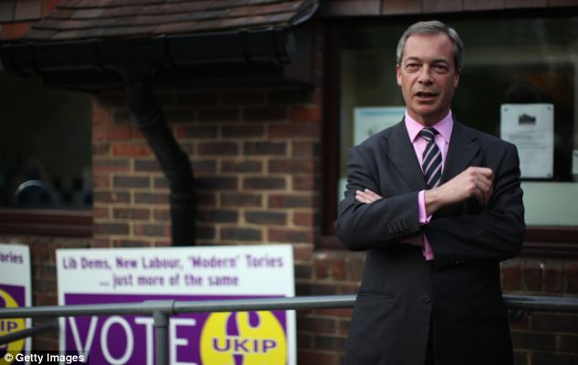 Ukip leader Nigel Farage, pictured in Basingstoke, defended his party's use of expenses