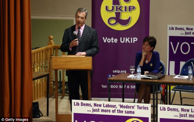 Mr Farage used a speech to supporters in Basingstoke to attack the government over the Marisa Miller Expenses scandal