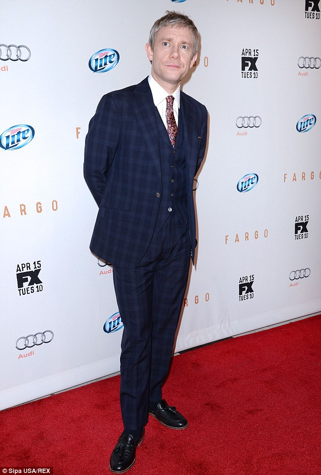 True multitasker: Martin Freeman works the red carpet almost as hard as he works his career at present