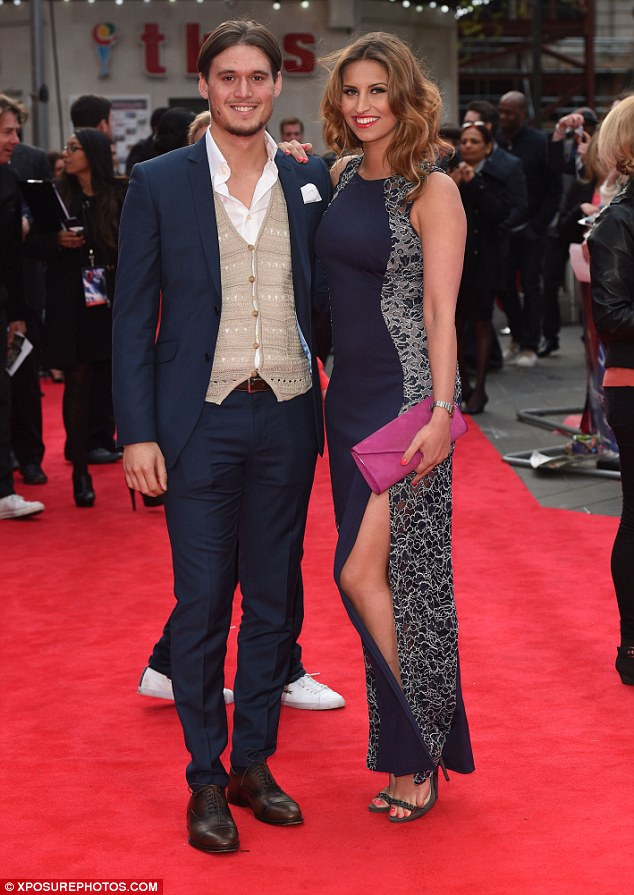 Best of friends: The couple were later joined by Charlie Sims and Ferne McCann