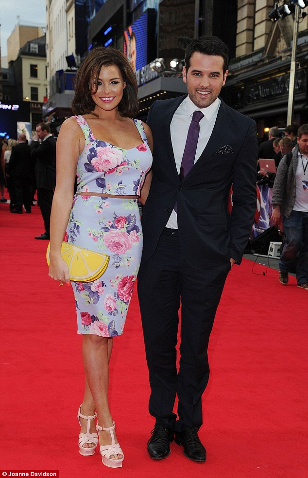 Hot date: Jess Wright brought her boyfriend Ricky Rayment out for the night with her