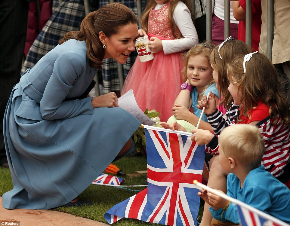 Earlier, the Duke and Duchess of Cambridge attended a wreath-laying and commemoration service in Blenheim this morning where they were greeted by cheering locals
