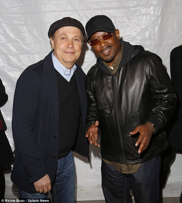 Funny guys: Billy Crystal and Martin Lawrence shared the spotlight on the red carpet