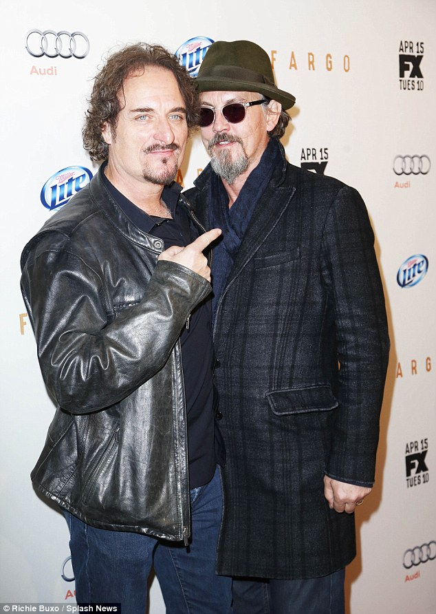 Character actors: Kim Coates and Tommy Flanagan showed off their beards together