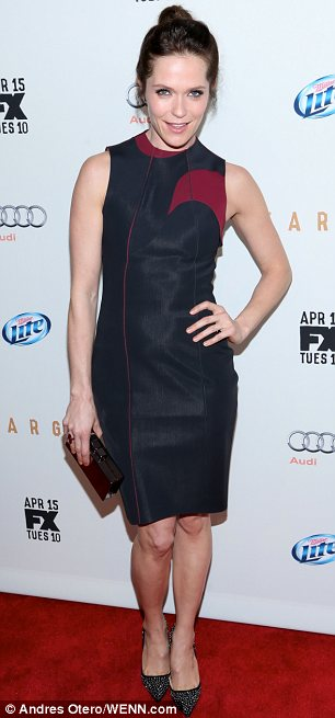 Red carpet chic: Joelle Carter and Katie Aselton were both stylish on the red carpet at the screening of Fargo