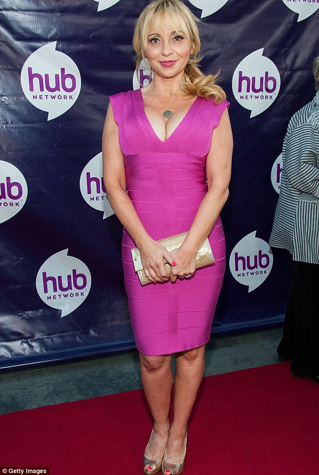 Cartoon diversity: Tara Strong, the voice of Bubbles from the cartoon the Powerpuff Girls says she lobbied with producers for an African American character - she is pictured at The Hub premiere in LA in 2013