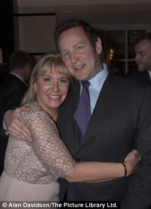 Nadine Dorries pictured with Ed Vaizey MP at the launch of her book The Four Streets