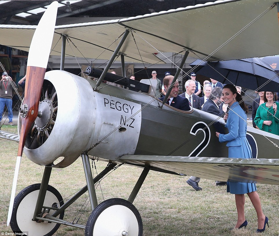 Kate smiled as she leant up against the Sopwith Pub bi-plane