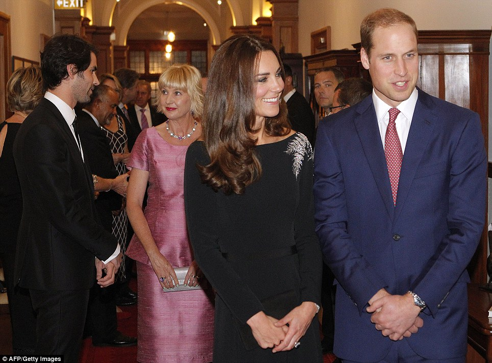 Kate and William shared a moment together during the state reception at Government House in Wellington